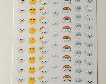 Kawaii Mixed Weather Stickers: