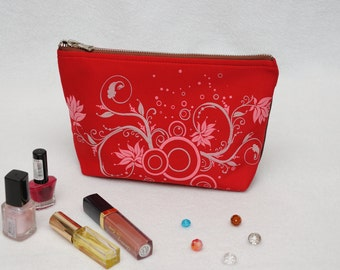 Birthday Gift for wife Cosmetic bag Womens Gift Girlfriend Gift idea Makeup bag Make up bag Cosmetic case Makeup Organizer fabric clutch bag