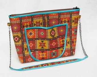 Mini Bag Fabric Gunny Bag Womens Bag Africa Ethnic Bag Ethnic Fabric African Fabric Cosmetic Bag Ethnic African Style Bag Womens Gift Ideas