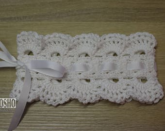 Cotton headband for baby girl. Made to order