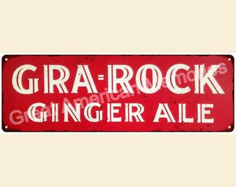 Gra Rock Ginger Ale Vintage Look Reproduction Metal 6x18 Sign 6180247