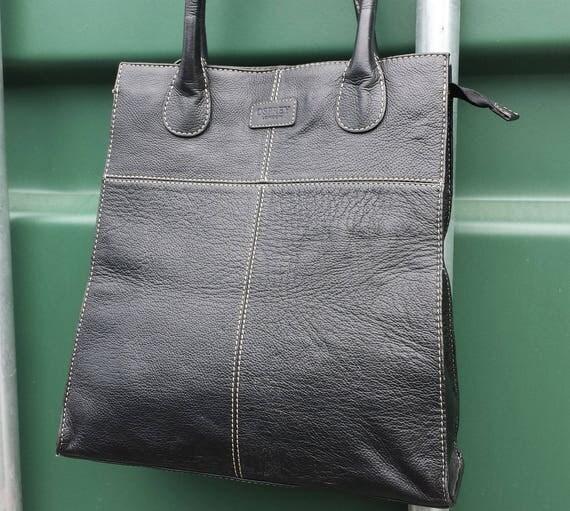 Osprey London by Graeme Ellisdon Black Leather Tote Bag