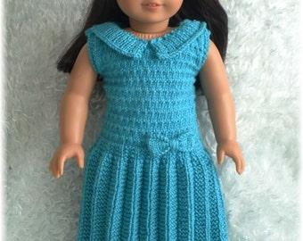 American Girl - Drop-Waist Pleated Dress (knitting pattern)