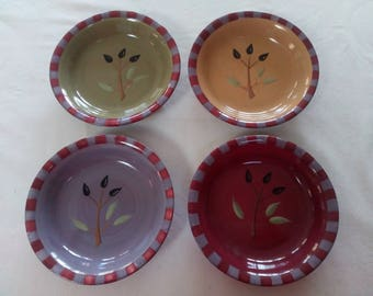Debby Segura Designs Pottery Dipping bowl Set of 4 in Pattern Olivia