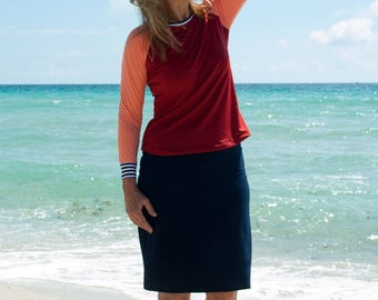 Swimskirt with attached Shorts Modest Active Swimwear is great for swimming and being active.