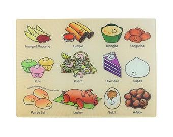 Filipino Food Dicing Board, Home Cutting Board, Philippines Decor, Slice Cutting Board, Glass Cutting Board, Nice Kitchen Decor, Filipino