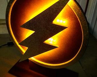 Justice League The Flash Comicbook Superhero Logo Tabletop Nightlight