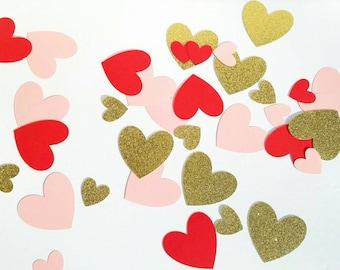 Valentines Day Jumbo Confetti, Valentines Day Confetti, Valentine Confetti, Heart Confetti, Valentine Cutouts, Heart Cutouts