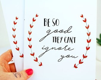 Be So Good They Can't Ignore You | Black A5 Notebooks | Stationery