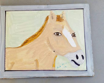 Horse Painting Signed By Artist