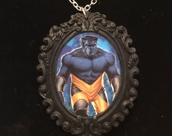 Beast from The X-Men cameo necklace