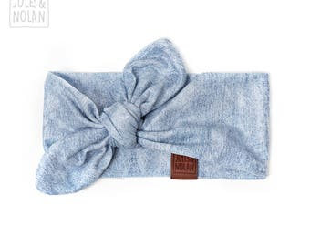Baby Knot  Headband J&N DESIGNER - Denim