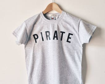 Pirate T-shirt, Pirate Party, Pirate costume, Pirate gift, Pirate statement tee, Kids Pirate T-shirt, Pirate shirt, Pirate print top