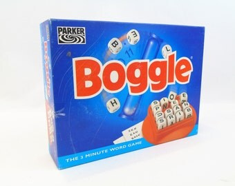 Boggle 3 Minute Word Dice Classic Board Game By Parker 1985