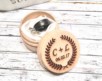 Ring Box Wedding Ring Custom Ring Box Engraved Ring Bearer
