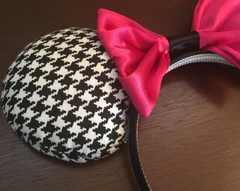 Hounds-Tooth Pattern Mouse Ears *Free Shipping*