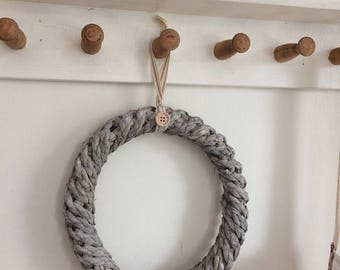 Rustic Country Nautical style Sisal Wreath