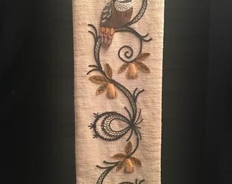 Vintage Barkcloth Tapestry
