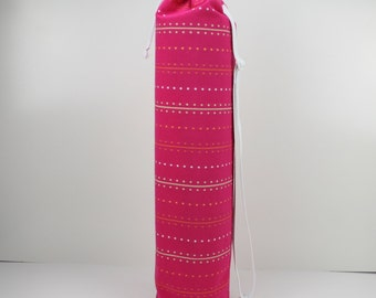 Pink Yoga/Pilates Mat Bag with Adjustable Carry Strap Fits Mat 6mm