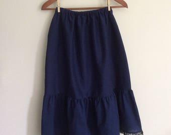 Navy Blue Ladies Petticoat, Women's Navy Blue Slip