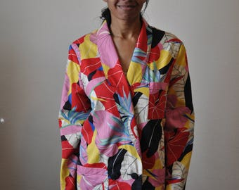 Vintage 1980s Floral Patterned Donnybrook Jacket