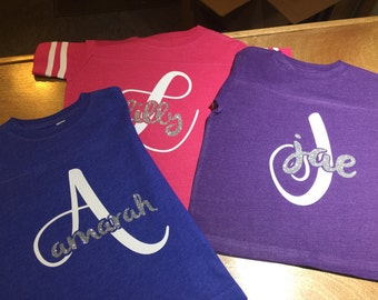 Personalized girl tshirt;