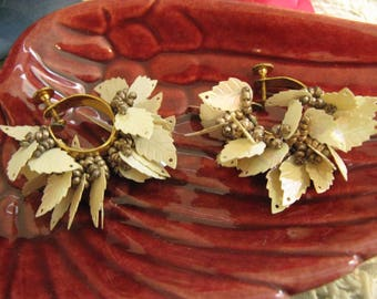 Wild Kitsch Vintage Sequins and Seed Bead Earrings