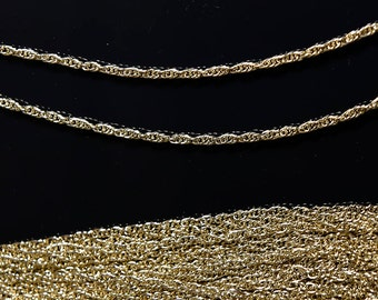 """15 Pcs.  24"""" Hamilton Gold plated 3mm Rope chain"""