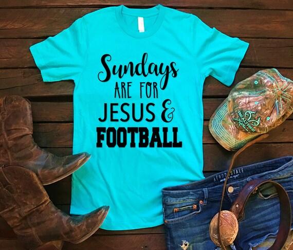 Sundays Are For Jesus & Football Unisex T Shirt, Country T Shirt, Southern T Shirt, Football Shirt, Concert Shirt, Boutique Shirt