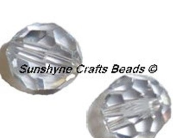 Swarovski Crystal Beads 12 Pcs 5000 Series SHADOW CRYSTAL 6MM Faceted Round Bead