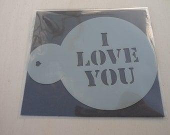 I love You, Coffee/Cupcake  Stencil