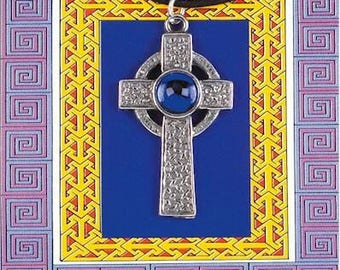 Celtic Cross Gem Pendant