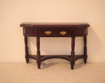 Dollhouse miniature cabinet, Dollhouse furniture table, dolls house working table, 1 12th scale miniature table, miniature table