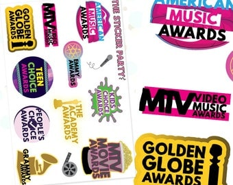 Award Show Planner Stickers