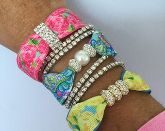 Lilly Pulitzer HPFI Bracelet Set first Impression and Conch Republic