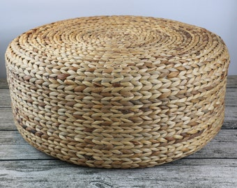 Rustic floor cushions/straw floor pouf/gift for moms/Pouf ottoman/Wholesales bulk/Yoga/meditation cushion/wedding gift/GrasShanghai
