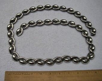 Vintage MODERNIST Silverplate Chain Link BELT-40 Inches