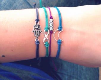 Infinity Bracelet Silver • Infinity Bracelet Boho Bracelet • • Forever Bracelet