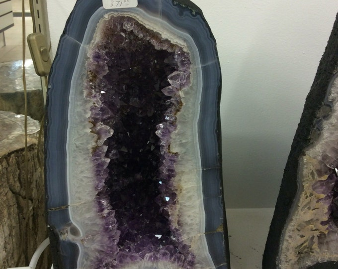 "Amethyst Geode 53 LBS 15"" Tall Home Decor \ Fung Shui \ Raw Amethyst \ Rocks & Geodes \ Healing Crystals \ Office Decor \ Reiki \ Meditation"