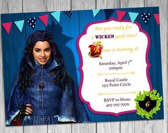 Evie Descendants Invitation