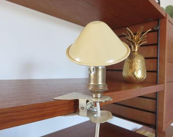 pretty lamp clip mushroom French 1950 1960's 50's 60's mid century french vintage mushroom lamp