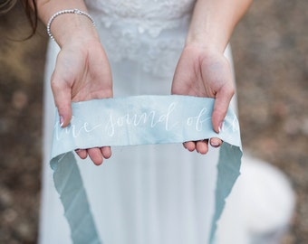 Custom Calligraphy Quote on Muslin Ribbon
