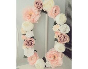 Large Flower Letter vintage/ wedding flower letter/ Nursery letter Flower / Floral letter nursery/ Flower sign / floral wall letter