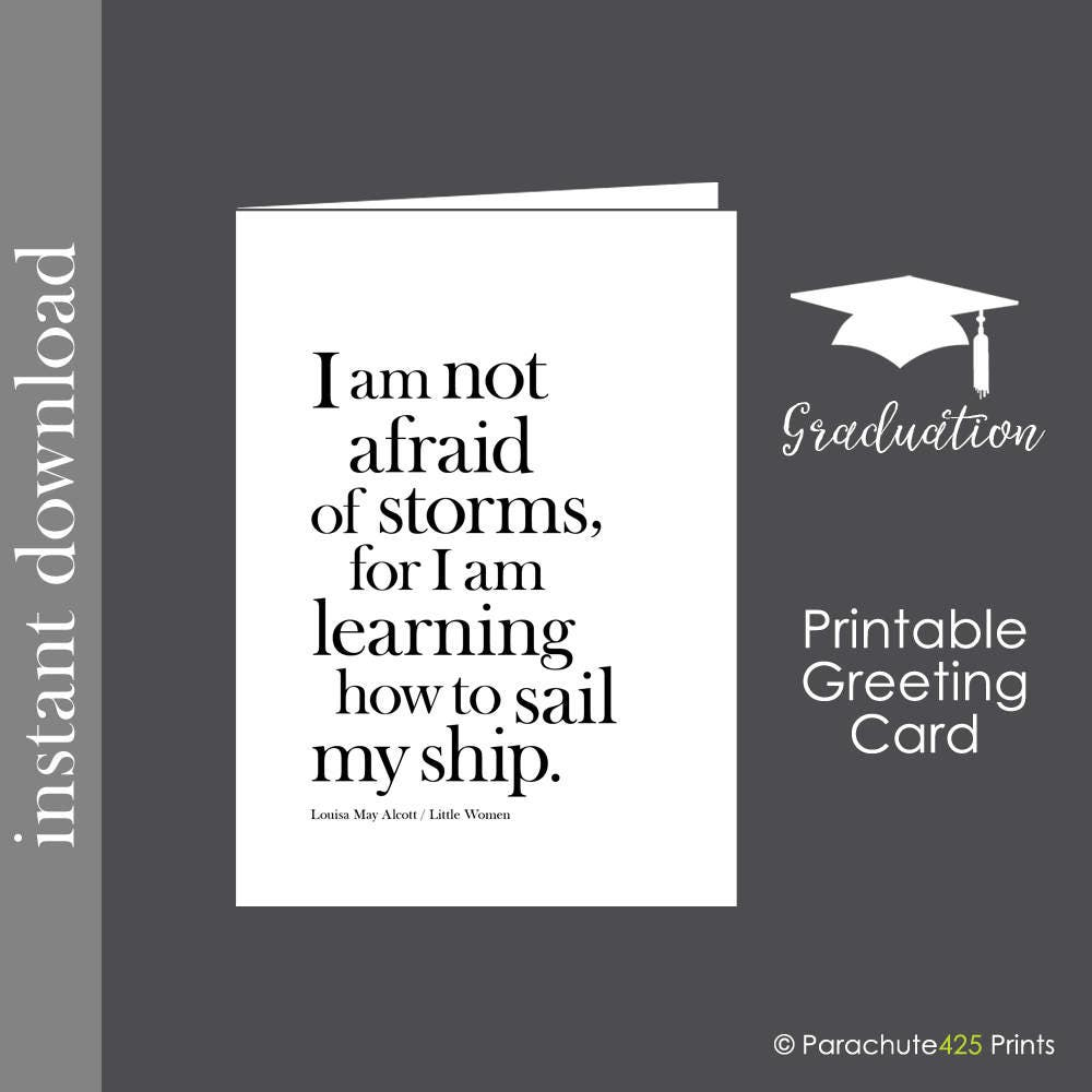 Witty image with printable graduation card