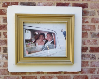 White and Gold 16x20 picture frame.