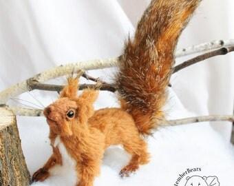 SOLD realistic squirrel Teddy Bear friend OOAK squirrel Sersa