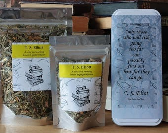 T. S. Eliot Inspired Tea - Poet -  Literary Tea  - Tea Gift - Literary Tea Gift - Bookish Gift - Poets Gift - Tea