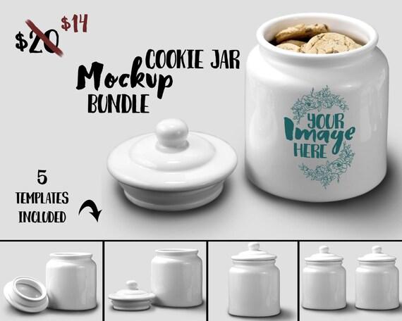 Ceramic Cookie Jar mockup template | ceramic jar| cookie canister ...