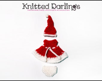 Xmas Elf baby Clothing 3 piece set by Knitted Darlings #2