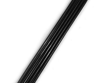 """7"""" Double Point Fancy Ebony Wood Knitting Needles Size 3 by Yarnology, 5 Pieces"""